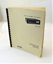 INFICON Model XTM Thin Film Thickness & Rate Monitor Instruction Manual