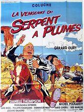 Affiche 120x160cm LA VENGEANCE DU SERPENT À PLUMES (1984) Coluche TBE #