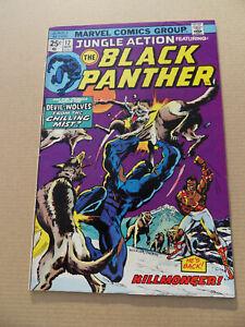 Jungle Action 12 .Black Panther . Killmonger App .HOT! Marvel 1974 .FN +
