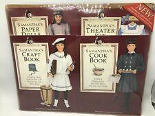 American Girls Samantha Pastimes Cookbook Craft Book Paper Dolls Theater Kit