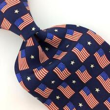 SPIRIT OF FREEDOM USA TIE Red BLUE Stripes/Stars FLAGS Silk N4-334 New Ties