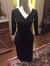 $695  LA PETITE ROBE DI CHIARA BONI BLACK MIETTA DRESS, SZ 44/8 NWT