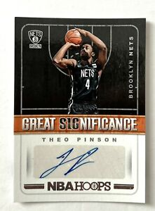 Theo Pinson, 2018 Hoops Great Significance rookie autograph, Nets, Celtics