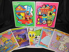Vintage Frame Tray Puzzle Lot Scooby Doo Casper Bananas In Pajamas 7 Total As Is