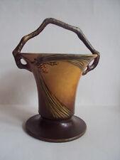 """Vintage Original Roseville Pottery Large Pine Cone Basket #338-10"""".  Excellent!"""