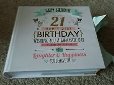 """21st Birthday Pastel Photo Album & Ribbon Holds 80 pictures 4 x 6"""" Perfect Gift"""
