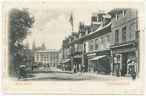 King Street, Twickenham, 1903 postcard to Blanche Scatliff, Thames Ditton