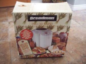 BREADMAN DELUXE RAPID BREAD MAKER MACHINE OPEN BOX NEW!! TR555