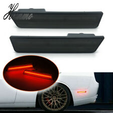 Pair Smoked LED Rear Side Marker Lights For 08-14 Dodge Challenger 11-14 Charger