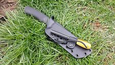 Custom Kydex sheath for the Mora Bushcraft with firesteel holder and Malic clip!
