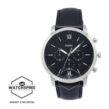 Fossil Men's Neutra Chronograph Black Leather Watch FS5452