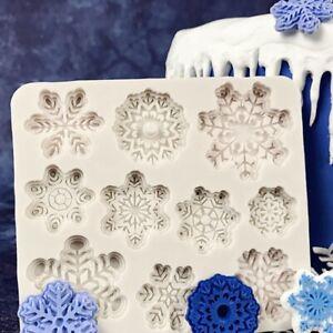 Diy silikon backen kuchenform weihnachten weihnachten schneeflocke kuchenform'