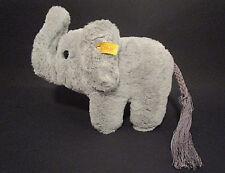 Elefanten Baby grau Knopf im Ohr ca 25cm #062520 Steiff Vintage sitzend