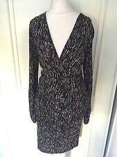 Viscose V-Neck Spotted Regular Size Dresses for Women