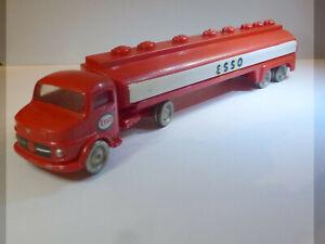Modellauto LEGO, MERCEDES Tankzug ESSO, Metallräder, 1:87, HO, 60er Jahre