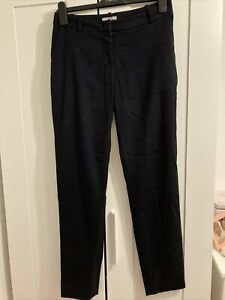 H&m Navy Slim Trousers Size 8 Eur 34