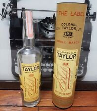 Colonel E.H. Taylor 1st and Only Small Batch Bourbon Whiskey Empty Bottle