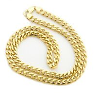 """Beauniq  Solid 14k Yellow Gold 6.5mm Heavy Miami Cuban Link Chain Necklace 22"""""""