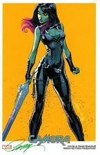 "J SCOTT CAMPBELL GUARDIANS OF GALAXY GAMORA SDCC 2017 ART PRINT - SIGNED 11""x17"""