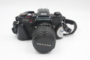 Pentax Program A SLR FILM CAMERA w/ SMC Pentax-M 135mm F/3.5 Lens WORKING