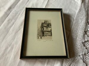 Etching of York by Charles A Barker. Signed