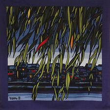 Furoshiki Japanese Fabric Clifton Karhu 'Weeping Willow' Kyoto Motif Cotton 90cm