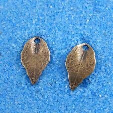 100 Stück Antike Bronze Kleine Blatt Charms Dangle Anhänger Schmuck 15x9mm 34183
