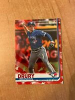 2019 Topps Series 2 - Brandon Drury - #686 Independence Day Parallel #d 31/76