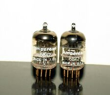 Matched Pair Amperex PQ 5842/417A tubes Gold Pins D-getter - 1964 - Very Strong