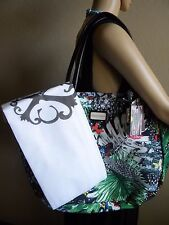 Christian LACROIX Jardin Amaryllis Tropical Printed Canvas Tote Handbag NEW