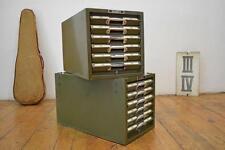 2x Kardex Schubladenschrank Antik Alt Karteischrank A5 Vintage Metall Art Deco