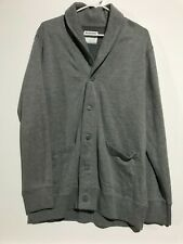 Men's Gray Old Navy Gray Button Fleece Shawl Cardigan. Size Large