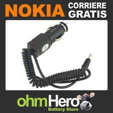 Caricabatterie Auto 12V Per Nokia 2610 2651 3100 3120 3200 3205 3220 N-Gage QD