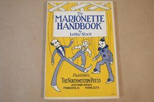 Vintage 1938 - Marionette Handbook book LeRoy Stahl  String Puppet ventriloquist