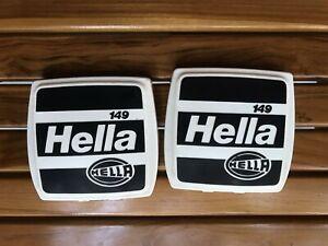 Vintage Cover Pair Foglight Hella 149 VOLKSWAGEN MERCEDES  BMW #HELLA149  NOS