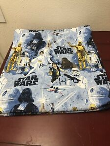 Pottery Barn Kids New Hope Star Wars Flannel Flat Sheet Full Sz Darth Vader EUC