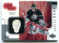 2001-02 UD Top Shelf Goalie Gear DH Dominik Hasek Leg Pad