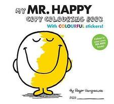 Mr Men Colour your own Mr Happy by Hargreaves, Roger, Good Used Book (Paperback)