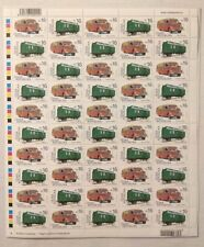 c46c9129660 Historical Vehicles  Railroad mail car   Post bus - Czech print sheet   MNH