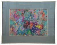 "1976 Richard Shiffler Original Colorful Abstract Pastel Painting 28"""