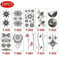 10 pcs Temporary Tattoo Stickers Body Art Fake Body Art Waterproof Sticker N7F8