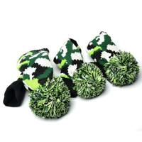 3X golf knit pom pom headcover for driver ,3,5 fairway wood cover Titleist Cobra