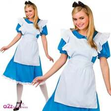 Ladies Storybook Alice Film Fancy Dress up Party Halloween Costume Medium Size