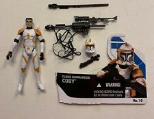 Star Wars Clone Wars CLONE COMMANDER CODY figure loose MINT complete 2008 #10