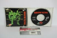 PC-Engine SCD BROWNING with SPINE * PCE Grafx Japan Game pe