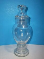 """Vintage Drug Store Apothecary Jar CRYSTAL CLEAR 8.25"""""""