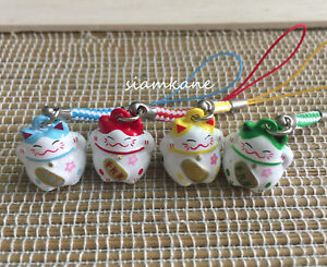 Lucky Cat Maneki Neko Japanese Bell 2.2 cm. Lucky and Rich