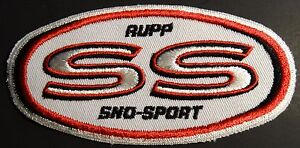 """VERY RARE VINTAGE RUPP SNOWMOBILE PATCH  2 1/2"""" X 5"""" SELDOM SEEN MINT   (648)"""