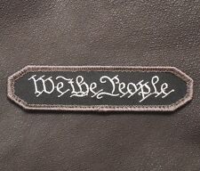 WE THE PEOPLE TAB MILITARY TACTICAL SWAT OPS USA VELCRO® BRAND FASTENER PATCH