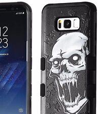 For Samsung Galaxy S8+ PLUS - Hybrid Armor Impact Phone Case Black Vampire Skull